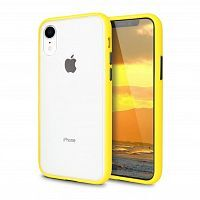 Чехол накладка xCase для iPhone XR Gingle series yellow black