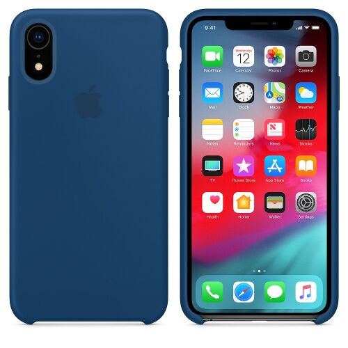 Чехол Silicone Case OEM for Apple iPhone XR Blue Horizon Фото 1