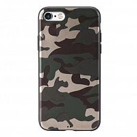 Чехол накладка xCase на iPhone 7/8/SE 2020 Dark green Camouflage case