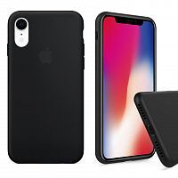 Чехол накладка xCase для iPhone XR Silicone Case Full black