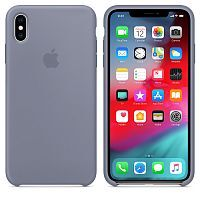 Чехол Silicone Case OEM for Apple iPhone X/XS Lavender Gray