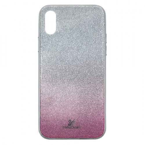 Чехол накладка xCase на iPhone  XS Max Swarovski Case pink