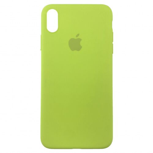 Чехол накладка xCase для iPhone XS Max Silicone Slim Case lime Фото 1