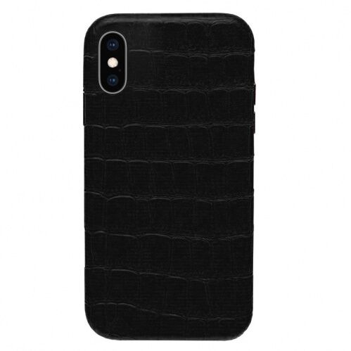 Чехол накладка xCase для iPhone XS Max Leather Case Full Crocodile Black - UkrApple