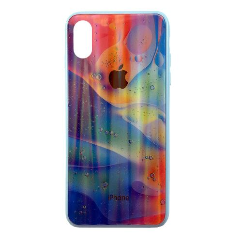 Чехол накладка xCase на iPhone XS Max Polaris Smoke Case Logo blue mix - UkrApple