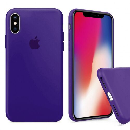 Чехол накладка xCase для iPhone XS Max Silicone Case Full purple - UkrApple