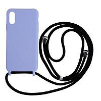 Чехол накладка xCase для iPhone X/XS Silicone Case Crossbody Bag glycine