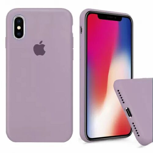 Чехол накладка xCase для iPhone XS Max Silicone Case Full lilac pride - UkrApple
