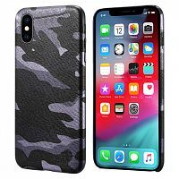 Чехол накладка xCase на iPhone XR Black Camouflage case