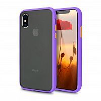 Чехол накладка xCase для iPhone XS Max Gingle series purple orange