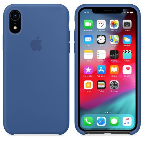 Чехол Silicone Case OEM for Apple iPhone XR Delft Blue Фото 1