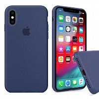 Чехол накладка xCase для iPhone XS Max Silicone Case Full alaskan blue