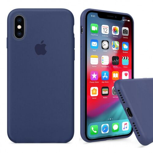 Чехол накладка xCase для iPhone XS Max Silicone Case Full alaskan blue - UkrApple