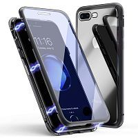 Чехол  накладка xCase для iPhone 7Plus/8Plus Double-sided Magnetic Case transparent black