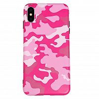 Чехол накладка xCase на iPhone XR Pink Camouflage case
