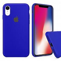 Чехол накладка xCase для iPhone XR Silicone Case Full ultramarine