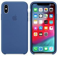 Чехол Silicone Case OEM for Apple iPhone X/XS Delft Blue