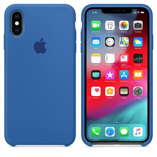 Чехол накладка xCase для iPhone XS Max Silicone Case denim blue: фото 2 - UkrApple