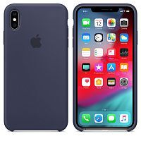 Чехол Silicone Case OEM for Apple iPhone X/XS Midnight Blue