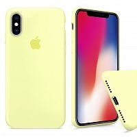 Чехол накладка xCase для iPhone XS Max Silicone Case Full mellow yellow