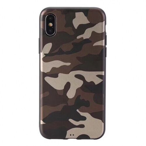 Чехол накладка xCase на iPhone XS Max Dark brown Camouflage case - UkrApple