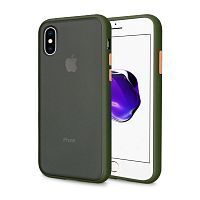 Чехол накладка xCase для iPhone XS Max Gingle series green orange