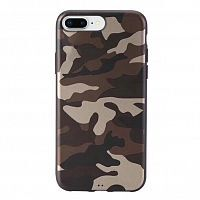 Чехол накладка xCase на iPhone 7Plus/8Plus Dark brown Camouflage case
