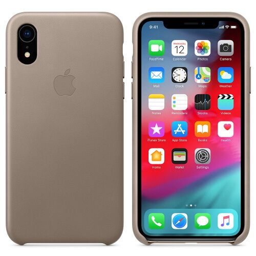 Чехол накладка на iPhone XR good Leather Case taupe: фото 2 - UkrApple