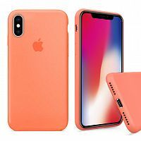 Чехол накладка xCase для iPhone X/XS Silicone Case Full papaya