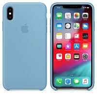 Чехол Silicone Case OEM for Apple iPhone XS Max Cornflower