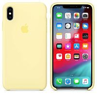 Чехол Silicone Case OEM for Apple iPhone X/XS Mellow Yellow