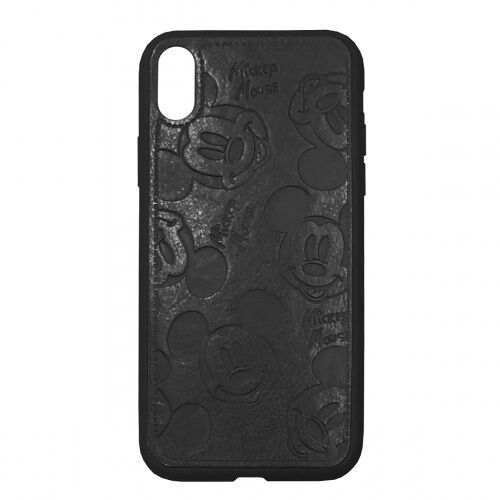 Чехол накладка xCase для iPhone XS Max Mickey Mouse Leather Black - UkrApple