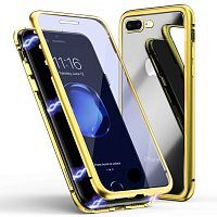 Чехол  накладка xCase для iPhone 7Plus/8Plus Double-sided Magnetic Case transparent gold