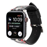 Ремешок xCase для Apple watch 38/40 mm Leather Classic Mickey black red