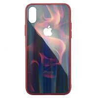 Чехол накладка xCase на iPhone X/XS Polaris Smoke Case Logo red