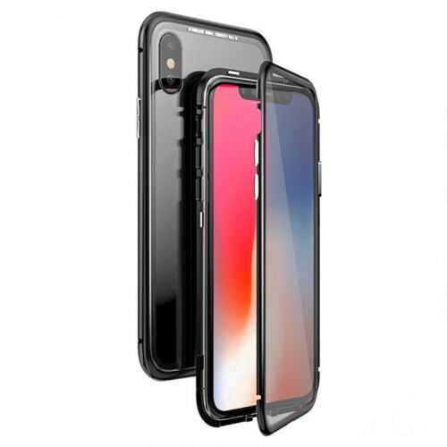 Чехол  накладка xCase для iPhone XS Max Double-sided Magnetic Case transparent black - UkrApple