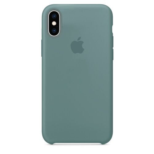 Чехол накладка xCase для iPhone XS Max Silicone Case cactus Фото 1