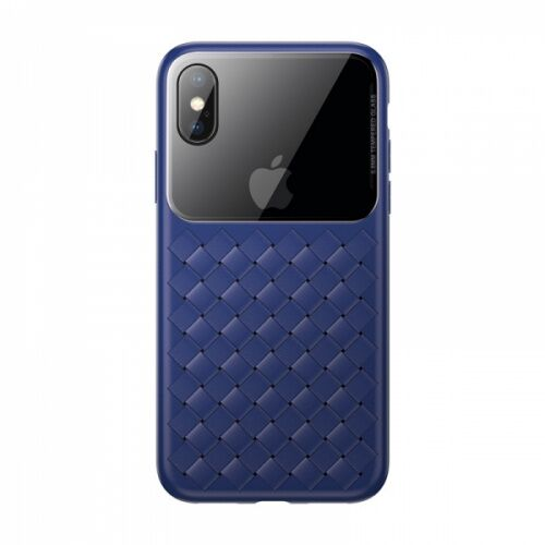 Чехол накладка Baseus для iPhone XS Max Weaving Case blue - UkrApple