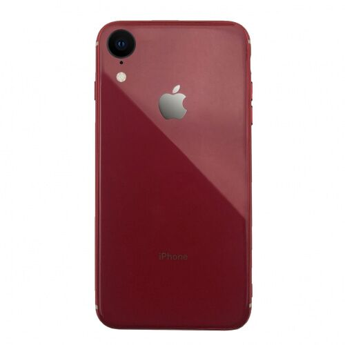 Чехол накладка xCase на iPhone XR Glass Silicone Case Logo red