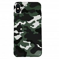 Чехол накладка xCase на iPhone XR Khaki Camouflage case