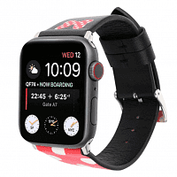 Ремешок xCase для Apple watch 38/40 mm Leather Classic Minnie red