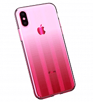 Чехол накладка Baseus для iPhone X/XS Aurora Case pink