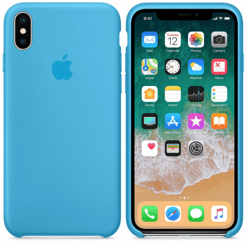 Чехол накладка xCase для iPhone XS Max Silicone Case голубой: фото 2 - UkrApple