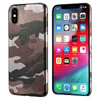Чехол накладка xCase на iPhone XS Max Brown Camouflage case