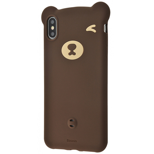 Чехол накладка Baseus для iPhone XS Max Bear Case brown - UkrApple