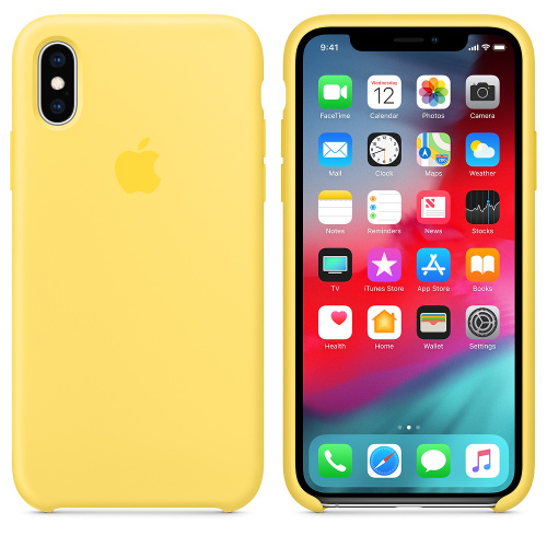 Чехол Silicone Case OEM for Apple iPhone XS Max Canary Yellow - UkrApple