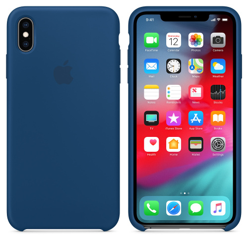 Чехол Silicone Case OEM for Apple iPhone XS Max Blue Horizon - UkrApple