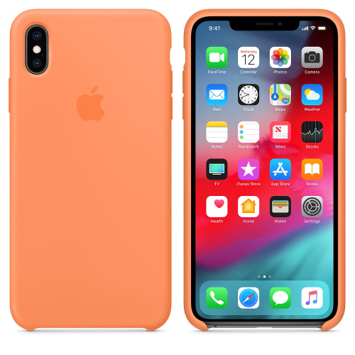 Чехол Silicone Case OEM for Apple iPhone XS Max Papaya - UkrApple