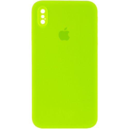 Чехол xCase для iPhone XS Max Silicone Case Full Camera Square corners Party green - UkrApple