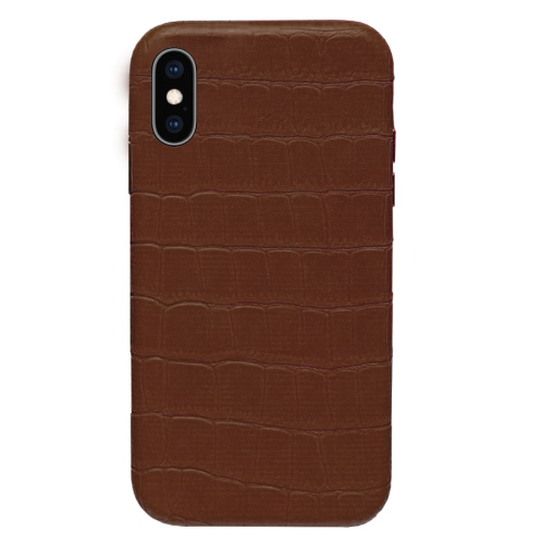 Чехол накладка xCase для iPhone XS Max Leather Case Full Crocodile Brown - UkrApple